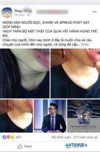 Em vợ BTV Minh Tiệp bị bạo hành